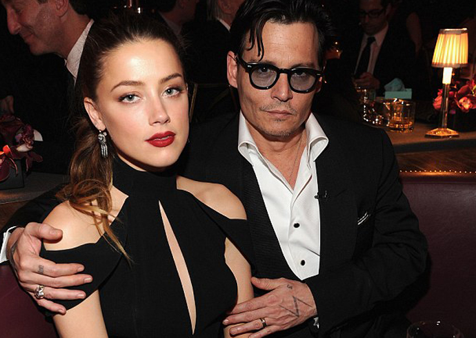 ( amber heard & johnny depp )